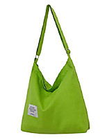 cheap -women's retro large size canvas shoulder bag hobo crossbody handbag casual tote grass green