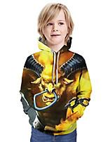 cheap -Kids Boys' Basic Graphic Animal Long Sleeve Hoodie & Sweatshirt Yellow