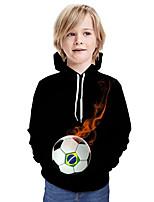 cheap -Kids Boys' Active Basic 3D Paisley Graphic Print Long Sleeve Hoodie & Sweatshirt Black