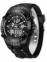 cheap -golden hour military sports watches for men, 3atm waterproof, stopwatch, date and date, alarm, luminous digital analog wrist watch with rubber band litbwat