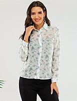 cheap -Women's Blouse Shirt Galaxy Long Sleeve Print Shirt Collar Tops Basic Basic Top Blue