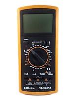 cheap -Professional Digital Multimeter Multimetro EXCEL DT9205A AC DC Ammeter Voltmeter Capacitance Resistance Tester Meter Multitester