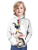 cheap -Kids Boys' Basic Graphic Animal Long Sleeve Hoodie & Sweatshirt White