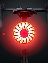 cheap -bike rear light, smart brake bike tail light usb rechargeable, 5 light modes red high intensity bicycle taillight waterproof helmet backpack led lamp safety warning strobe light (red & black)