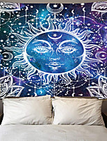 cheap -Tarot Divination Wall Tapestry Art Decor Blanket Curtain Picnic Tablecloth Hanging Home Bedroom Living Room Dorm Decoration Mysterious Bohemian Moon Sun Star Sketch