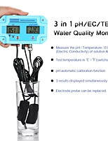 cheap -Professional 3 in 1 pH/EC/TEMP Meter Water Detector Multi-parameter Digital LCD Tri-Meter Multi-function Water Quality Monitor Multiparameter Water Quality Tester