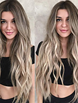 cheap -Synthetic Wig Body Wave Middle Part Wig Very Long Light Brown Synthetic Hair Women's Ombre Hair Exquisite Fluffy Light Brown