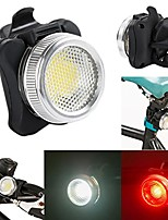 cheap -new arrival 2018 usb rechargeable cycling bicycle bike cob led head front rear tail light (black)