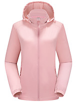 cheap -Women's Hiking Jacket Winter Outdoor Solid Color Thermal Warm Waterproof Windproof Breathable Jacket Single Slider Climbing Camping / Hiking / Caving Traveling Violet / Black / Fuchsia / Pink / Light