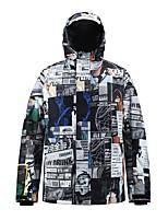 cheap -Men's Ski Jacket Skiing Snowboarding Winter Sports Waterproof Windproof Warm 100% Polyester Top Ski Wear