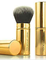 cheap -premium retractable kabuki makeup brush - blush brushes great for blending liquid, cream & mineral cosmetics or translucent powder - 1piece