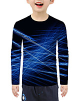 cheap -Kids Boys' Active 3D Long Sleeve Tee Blue