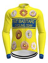 cheap -Men's Long Sleeve Cycling Jersey Yellow Novelty Bike Jersey Top Mountain Bike MTB Road Bike Cycling Quick Dry Sports Clothing Apparel / Micro-elastic