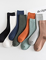 cheap -Men's Medium Socks - Solid Colored White Black Blue One-Size