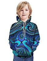cheap -Kids Boys' Active Basic Geometric 3D Graphic Print Long Sleeve Hoodie & Sweatshirt Blue