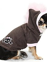 cheap -skull mohawk dog hoodie in pink size: small