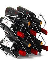 cheap -stainless steel countertop cabinet wine holder storage stand - hold 10 bottles