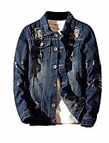 cheap -mens jacket! pervobs men's autumn winter vintage casual wash distressed denim jacket coat top blouse(2xl, blue