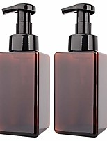 cheap -2 pack foaming soap dispenser 15oz refillable foam liquid hand soap empty plastic pump bottle container for bathroom vanities, kitchen sink, hospital, clinic - amber brown 450ml