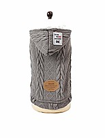 cheap -dbolommdog pet clothes, pet knit hoodie sweater for small dogs & cats knitwear puppy winter clothes& #40;grey, s& #41;