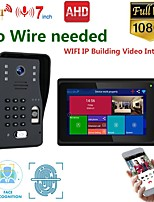 cheap -MOUNTAINONE SY706B018WF11 7 Inch Wireless WiFi Smart IP Video Door Phone Intercom System With One 1080P Wired Doorbell Camera And 1x Monitor  Support Remote Unlock
