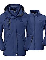 cheap -women& #39;s 3 in 1 waterproof ski jacket fleece liner windproof hooded raincoat & #40;navy,us s& #41;