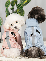 cheap -Dog Rain Coat Jumpsuit Color Block Minimalist Casual / Sporty Casual / Daily Outdoor Winter Dog Clothes Waterproof Blue Pink Costume Waterproof Material S M L XL XXL