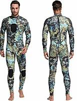 cheap -MYLEDI Men's Full Wetsuit 3mm SCR Neoprene Diving Suit Thermal Warm Waterproof Back Zip - Swimming Diving Surfing Camo / Camouflage Winter All Seasons