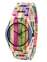 cheap -bewell handmade colorful bamboo watch analog quartz lightweight wristwatch with mix colors