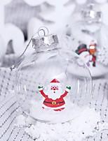 cheap -2 Pcs 8cm Transparent Christmas Balls Ornaments for Xmas Tree - Shatterproof Christmas Tree Decorations Hanging