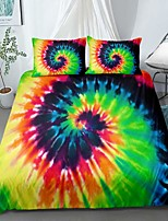 cheap -Home Textiles 3D Print Bedding Set Duvet Cover Set with Pillowcase,2/3 pcs Duvet Cover Sets Rainbow Tie Dye Print Bedding Set