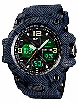 cheap -analog mens digital watch, waterproof military watch with dual display alarm stopwatch calendar led backlight sports wrist watch for men (denim blue)