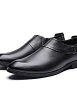 cheap -Men's Oxfords Daily Walking Shoes Cowhide Black / Brown Fall