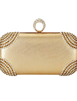 cheap -Women's Bags Polyester Top Handle Bag Crystals for Wedding / Event / Party Black / Gold / Silver