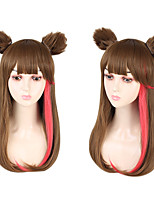 cheap -Cosplay Rurouni Kenshin Cosplay Cosplay Wigs Women's Neat Bang 50 inch Heat Resistant Fiber Matte Brown Adults' Anime Wig