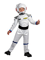cheap -Astronaut Cosplay Costume Outfits Kid's Boys' Cosplay Halloween Halloween Festival / Holiday Polyester White Easy Carnival Costumes / Leotard / Onesie / Hat / Leotard / Onesie / Hat