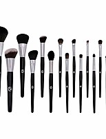 cheap -15pcs makeup brush set professional premium face makeup brushes for powder liquid foundation blending blushing concealer eyeshadow best christmas gift& #40;no bag included& #41;