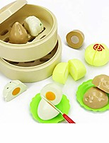 cheap -kitchen playsets, children cute simulation vegetable fruit kitchen pretend play cooking set for kids steamer [double layer11pcs-net bag]