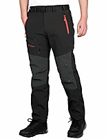 cheap -men's outdoor hiking camping climbing mountain stretchy ultralight athletic pants multi pockets moisture wicking sun protection spring summer autumn winter (black - thin, l)