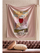 cheap -Tarot Divination Wall Tapestry Art Decor Blanket Curtain Picnic Tablecloth Hanging Home Bedroom Living Room Dorm Decoration Mysterious Bohemian Wine Cat