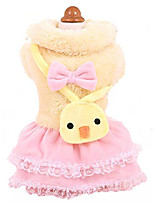 cheap -puppy thick skirt double thickening with chick package pet dog clothes autumn and winter warm thick sweater such as teddy pet dog d-yellow xs