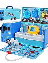 cheap -doctor kit for kids, 2 in 1 ambulance toy truck with stethoscope and 21 pcs pretend play medical equipment for 3 4 5 year old toddlers boys girls
