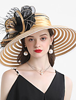 cheap -Headwear Poly / Cotton Blend Headwear with Floral / Stripe 1 Piece Wedding / Outdoor Headpiece