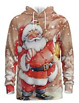 cheap -Daddy and Me Basic Santa Claus 3D Print Print Long Sleeve Regular Hoodie & Sweatshirt Khaki