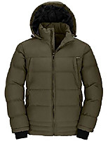cheap -men's winter quilted cotton stand collar outwear coat army green xx-large