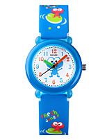 cheap -SKMEI Kids Quartz Watches Quartz Fairytale Theme Animal Pattern Cartoon Water Resistant / Waterproof Analog Blue Yellow Blushing Pink / One Year / One Year