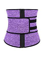 cheap -women's waist trainer belt -sweat belt underbust - body shaper sport girdle belt pueple 3xl purple