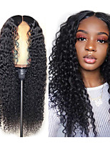 cheap -Synthetic Wig Afro Curly Water Wave Middle Part Wig Long Very Long Black Synthetic Hair 65 inch Women's Elastic Party Middle Part Black