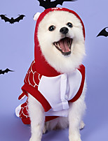 cheap -Dog Cat Halloween Costumes Vest Shark Party Cosplay Party Halloween Dog Clothes Red Costume Polyester S M L XL