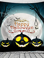 cheap -Halloween Wall Tapestry Art Decor Blanket Curtain Picnic Tablecloth Hanging Home Bedroom Living Room Dorm Decoration Psychedelic Skull Skeleton Pumpkin Bat Haunted Scary Castle Polyester